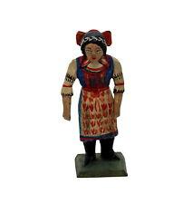 Grulicher Krippenfigur,  Frau in Tracht  > 7 cm <   (# 14284)