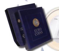 """Raccoglitore blu con custodia per collezione di monete EURO ITALIA  """"vuoto"""""""