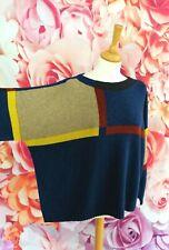 BNWT TOAST Large check INTARSIA Merino Wool jumper size L/XL