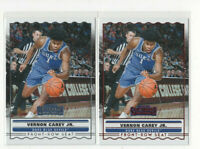 2 ct lot 2020 Contenders Vernon Carey Jr. Front-Row Seat Rookie Cards w/ RED