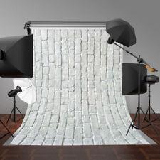 White Brick Photography Background Vinyl Wall Floor Photo Backdrop Studio 3x5ft