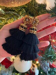 Tassel earrings inspiring in Oscar de la Renta