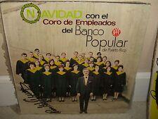 Navidad con El Coro De Empleados Banco Popular de PR - Mega Rare LP Ex Cond. L3
