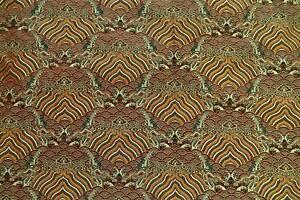 Faux Silk Brocade (Cloud Paradise) Jacquard Damask Kimono Fabric Material BL1