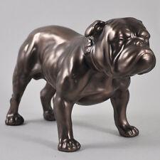 Bronze British Bull Dog Bronze Sculpture Statue Ornament Figure Cold Cast 01133