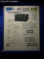 Sony Service Manual HCD D259 /D359 CD Deck (#6216)