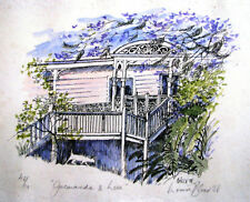 Louise Blood's Australian  numbered print titled 'Jacaranda and Lace'