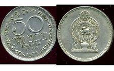 9SRI LANKA  50 cents 1975   ( bis )