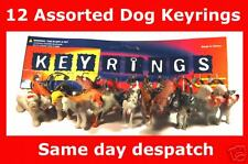 12  PLASTIC ASSORTED DOG KEY RINGS 0N CARD Party Bag