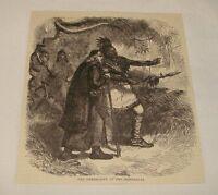 1880 magazine engraving ~ GENEROSITY OF THE ONONDAGAS