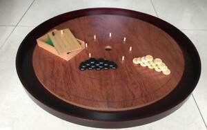 "Mayday Boardgame Crokinole 26"" Tournament Board - Rosewood New"