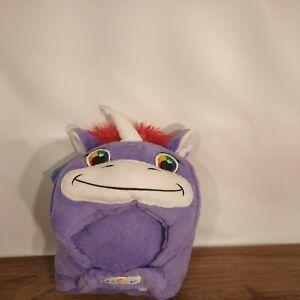 Comfy Critters Hooded Blanket Unicorn Purple Pet Pillow Blanket Hooded Blanket
