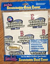 MLB STRETCHABLE BOOK COVER BOSTON RED SOX 2004 CHAMPIONS NEW