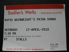 RUFUS WAINWRIGHT  LONDON  17/04/2010  TICKET