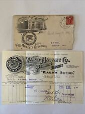 1903 Advertising Stamped Cover & Receipt Ward Mackey Bread Co Pittsburg, PA