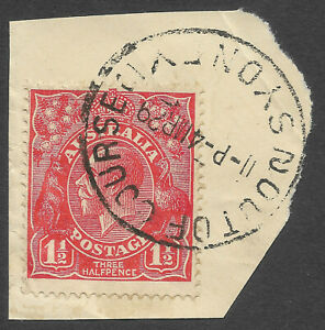 """Australia KGV 1.5d Red """"Out of Course, Sydney"""""""