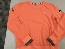 VICTORIAS SECRET PINK STORE LOVE PINK ORANGE SWEATSHIRT  SZ  XS