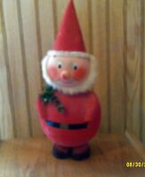 "Vintage Very Large 16"" Santa Claus Elf Bobblehead Cardboard Candy Container"