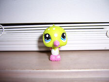 Littlest Pet Shop Green Pink Hummingbird White Polka Dots  #1929 LPS Hasbro K