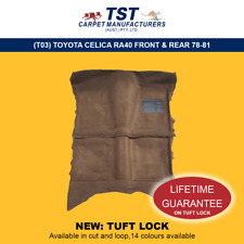 MOULDED CAR CARPETS (T03) TOYOTA CELICA RA40 FRONT & REAR 78-81