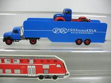 AB77-0,5# 2x Brekina H0 AUTOCARRO Magirus: 42600 Autotransport Ford Köln ecc.,