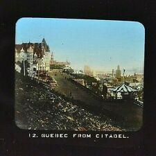 Quebec City Viewed From Citadelle     MAGIC LANTERN GLASS SLIDE