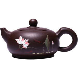 real yixing zisha tea pot original ore purple grit handmade master pot lotus new