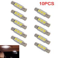 10X White 29mm 3-SMD T6 5050 LED Bulb For Car Sun Visor Vanity Mirror Fuse Light
