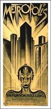 Metropolis VINTAGE MOVIE POSTER 17X36 Futuristic Eerie FILM GEM cult