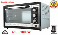 Portable Bench Top Rotisserie Oven with Fan 45L 1800W Stainless Steel Elements