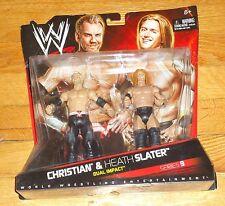 2010 WWE WWF Mattel Christian Heath Slater Wrestling Figures MIP Dual Impact