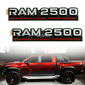 2x R.a.m.2500 Cummins Turbo Diesel Trunk Rear Emblems Badges for Dodge Ram 2500