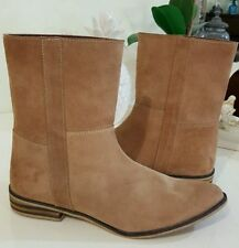Leather Pull On Textured Boots for Women