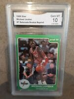 "Michael Jordan ""1985 Star Gatorade Rookie"" Basketball Card  HOT CARD perfect 10"
