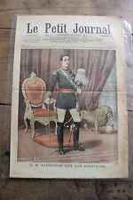Petit journal illustrated no. 756 1905 Alphonse xiii roi Espagne harras jardy 1