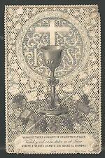 estampa de puntilla canivet de Primera Comunion andachtsbild santio holy card