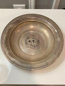International Sterling Silver 1940 CONNECTICUT FIELD TRIAL CLUB Trophy Bowl!!