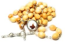 Saint Francis of Assisi relic wooden rosary patron of animals the environment