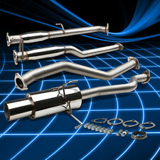 "4""Muffler Tip Stainless Catback Exhaust for 2001-2005 Honda Civic EM/ES DX/LX"