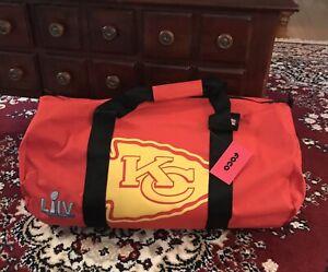 Kansas City Chiefs Large Barrel Style Duffle Bag Super Bowl Champions
