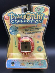 Tamagotchi Connection V4 Red and Yellow Hearts New, Factory Sealed - RARE