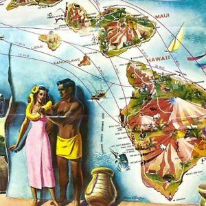 1960s Aloha Airlines Brochure Viscounts Alohajet Rolls-Royce Honolulu Hawaii Map