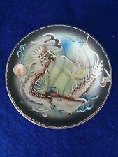 Vintage Japanese Moriage Dragonware Plate, Handpainted, Raised Design~ 5 inch