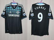 Chelsea 2011 2012 #9 Torres Adidas Away Black Shirt Jersey Size M