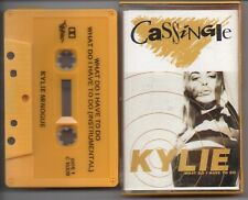 KYLIE - WHAT DO I HAVE TO DO CASSINGLE CASSETTE TAPE 1991 C10329 KYLIE MINOGUE