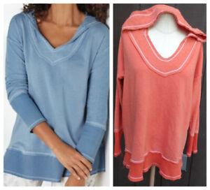 Soft Surroundings Small (6-8) MEDIUM  OASIS Hoodie/Pullover/Sweatshirt coral
