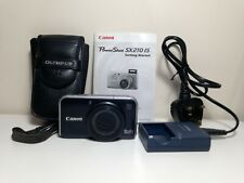 Canon Powershot SX210 IS 14.1MP Camera + Case, Charger, 2GB SD Card & Instructns
