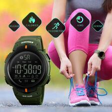 Men Women Sports Watches Back Light Alarm Watch Bluetooth Calorie Wristwatch_