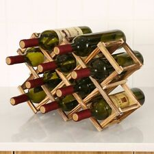 Bottle Racks Collapsible Wooden Stand Eco Friendly Kitchen Wine Storage Cabinet