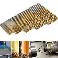 50Pcs 1/1.5/2/2.5/3mm Titanium Coated HSS High Speed Steel Drill Bit Set F8C4